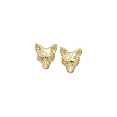 Vermeil Small Fox Post Earrings VER1068