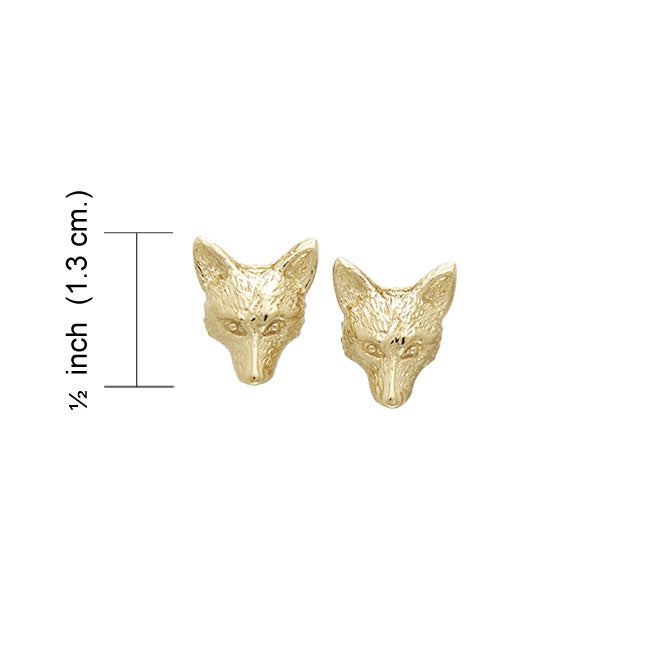 Vermeil Small Fox Post Earrings VER1068 Earrings