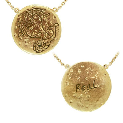 Capricorn Astrology Vermeil Necklace By Amy Zerner VNC265