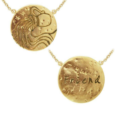 Aquarius Astrology Vermeil Necklace By Amy Zerner VNC266 Necklace