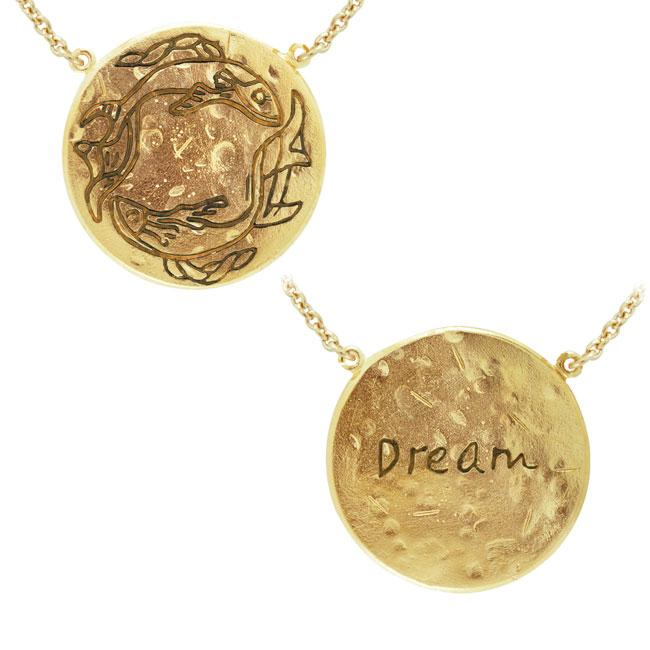 Pisces Astrology Vermeil Necklace By Amy Zerner VNC267 Necklace