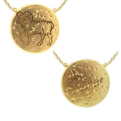 Aries Astrology Vermeil Necklace By Amy Zerner VNC268 Necklace