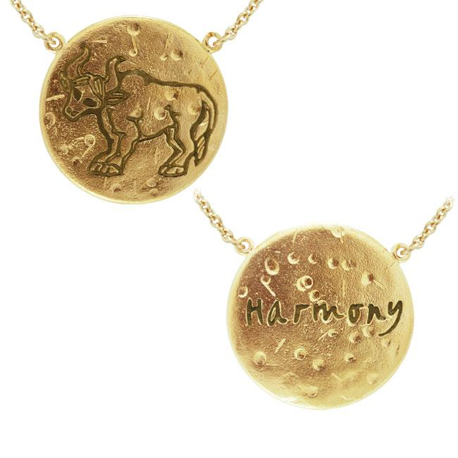 Taurus Astrology Vermeil Necklace By Amy Zerner VNC269