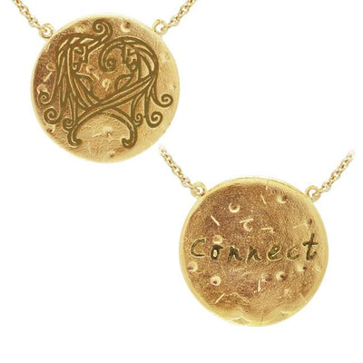 Gemini Astrology Vermeil Necklace By Amy Zerner VNC270