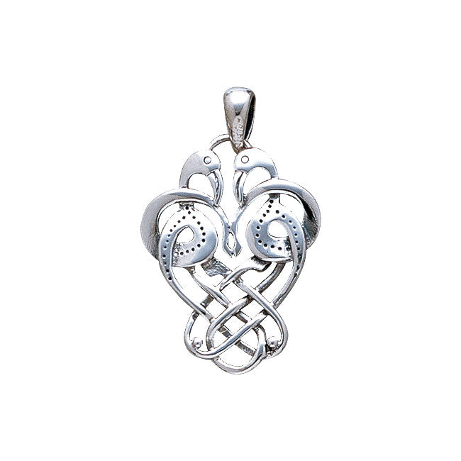 Celtic Knotwork Knots Birds Silver Pendant WP009 Pendant
