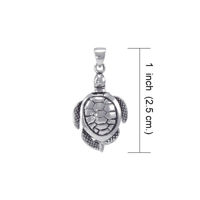 Moveable Turtle Sterling Silver Pendant WP032