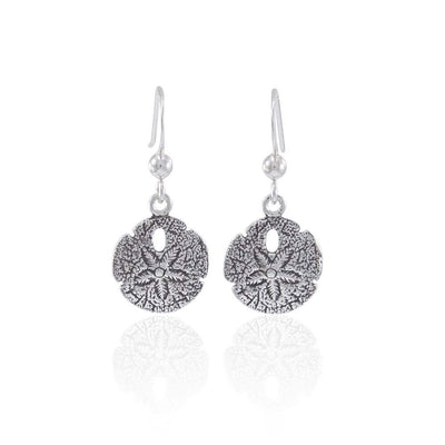 Sand Dollar Dangle Silver Earrings JE233