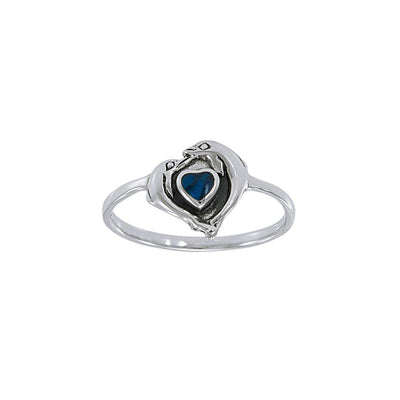 Silver Dolphin Love Ring JR139
