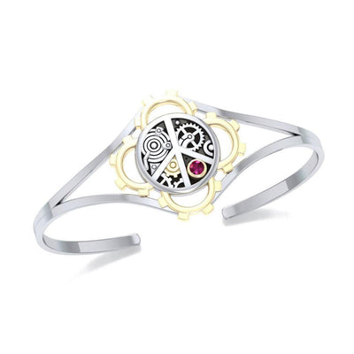 Peace Steampunk Silver and Gold Accent MBA150