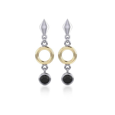 Blaque Circle Black Spinel Earrings MER382