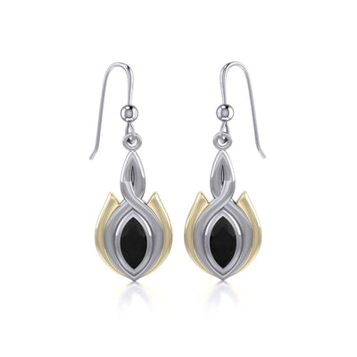 Blaque Oval Twist Earrings MER388