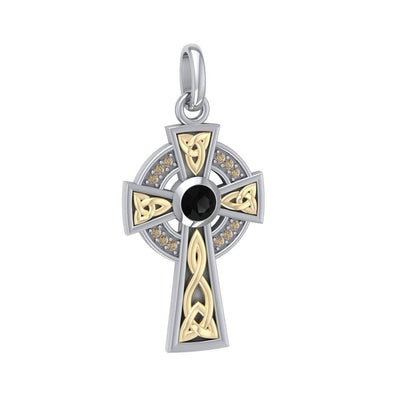Celtic Cross Silver & Gold Pendant MPD1805