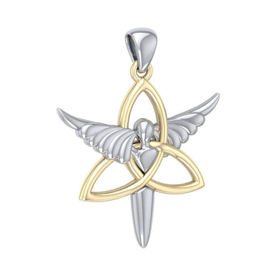Trinity Knot Angel Silver and Gold Pendant MPD3268