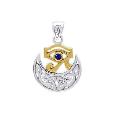 Scotta Goddess Celtic Egyptian Silver and Gold Pendant MPD4759