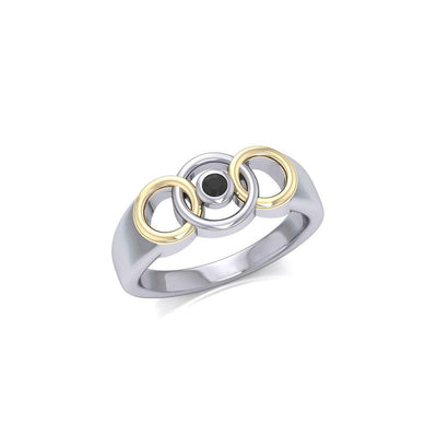 Blaque Interlocking Circles Ring MRI461