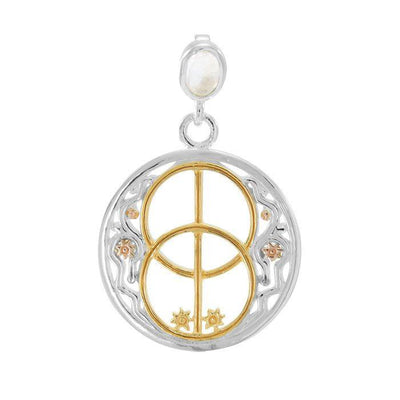 Chalice Well Healing Spell Silver, Yellow Gold and Pink Gold Pendant OPD4752