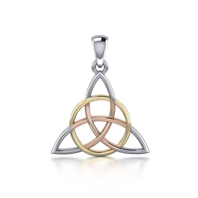 The Divine Power of the Triquetra ~ Sterling Three Tone Pendant OTP3378