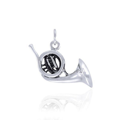 French Horn Silver Charm SC523