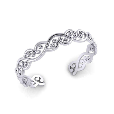 Celtic Maori Silver Bracelet TBA045 Bangle