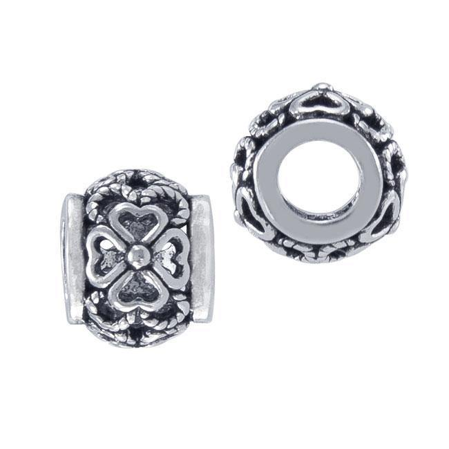 Celtic Knotwork Shamrock Sterling Silver Bead Bead
