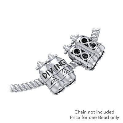 Dive Tanks Sterling Silver Bead TBD352