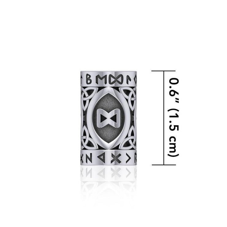 Intuition Rune Symbol Silver Bead TBD360 Bead