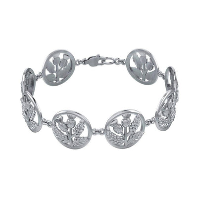 Scottish Thistle Link Bracelet TBG739