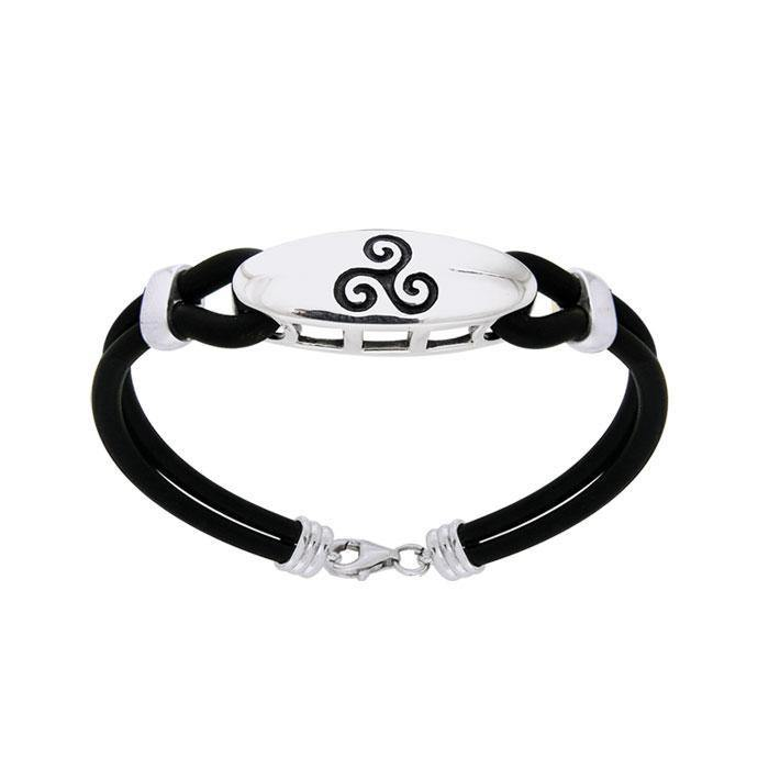 Celtic Triskele Leather Cord Bracelet TBL192