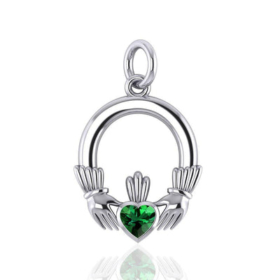 Celtic Claddagh Silver Charm TC318
