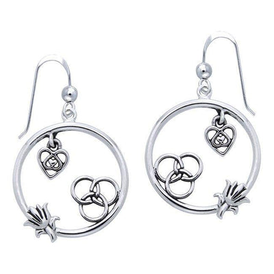 Citta Silver Round Earrings TER1015 Earrings