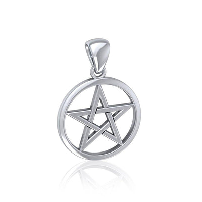 Pentacle Sterling Silver Charm Pendant TP355