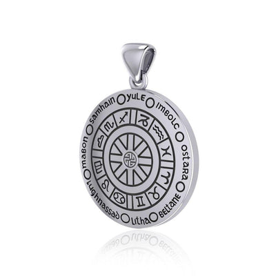 Wheel of the Year Silver Pendant TPD232
