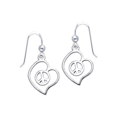 Love Peace Silver Earrings TER1054