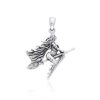 Magickal Diva ~ Sterling Silver Sexy Witch Pendant Jewelry TPD2926 Pendant