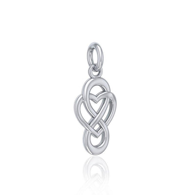 Celtic Infinity with Heart Sterling Silver Charm TCM623