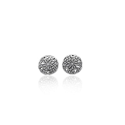 Sand Dollar Post Silver Earrings TE2583