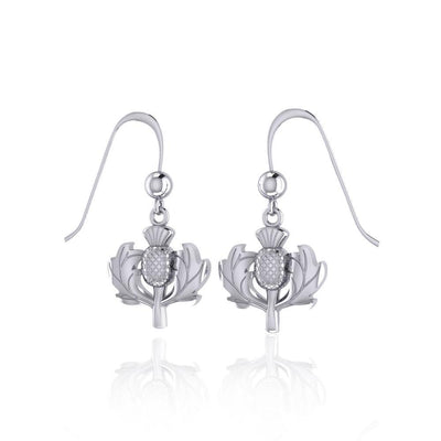Scottish Thistle Silver Earrings TE2872