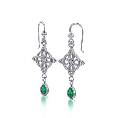 Celtic Quaternary Knot Earrings TE2891