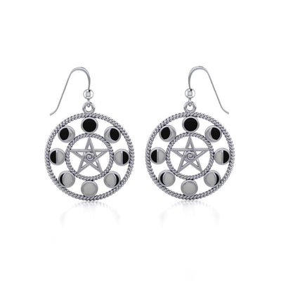 Moon Phase Silver The Star Earrings TER014
