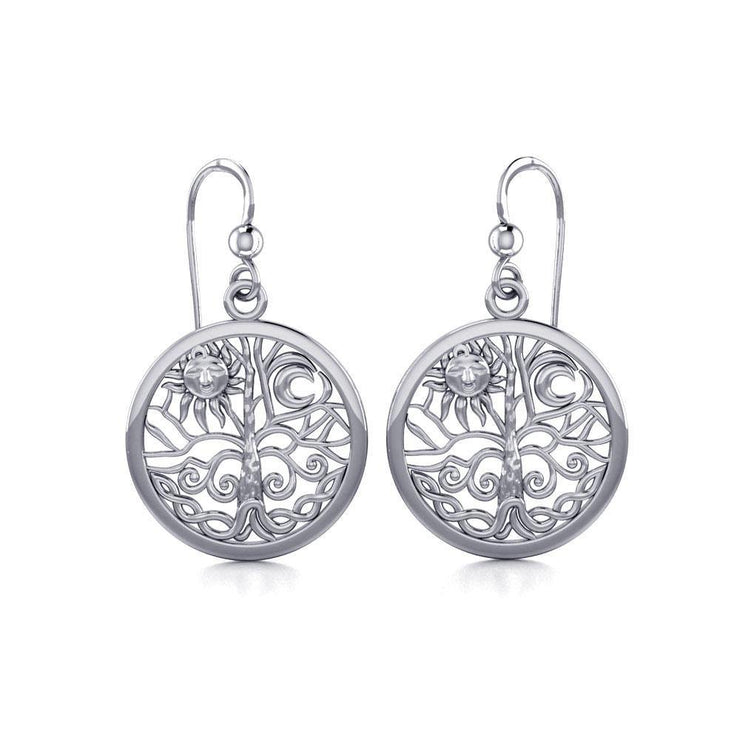 Celtic Tree of Life Silver Earrings TER060