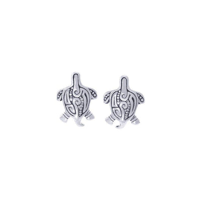 Aboriginal-inspired Sea Turtle Sterling Silver Post Earrings Jewelry TER1643