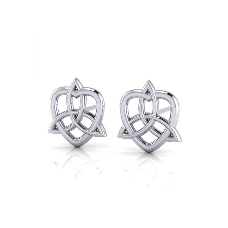 Celtic Trinity Knot Heart Post Earrings TER1657