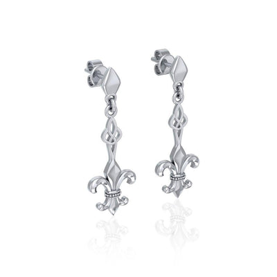 Dignified by the ancient Fleur-de-Lis ~ Sterling Silver Jewelry Post Earrings TER1677 Earrings