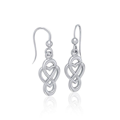 Celtic Infinity with Heart Sterling Silver Earrings TER1686