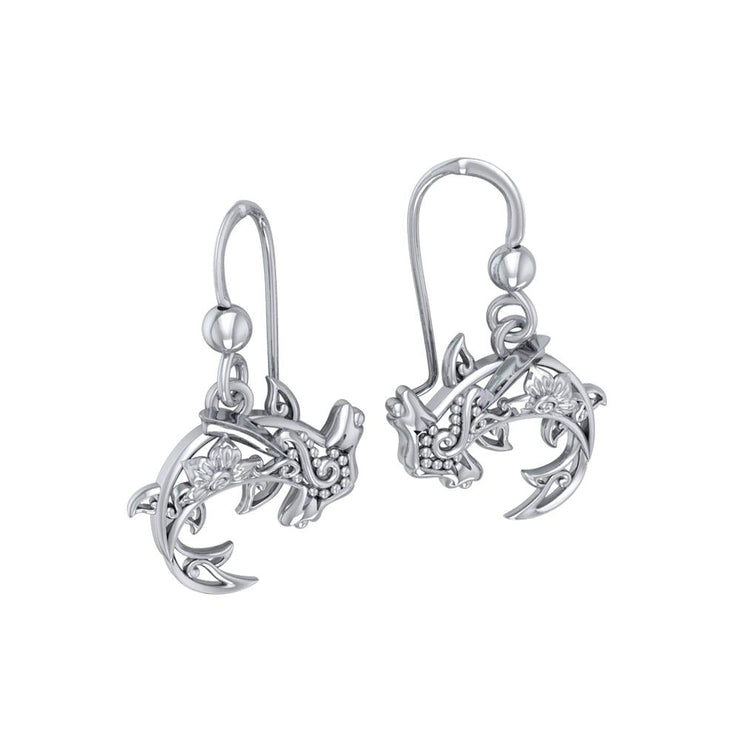 Fierce eminence ~ Sterling Silver Hammerhead Shark Filigree Earrings Jewelry TER1713