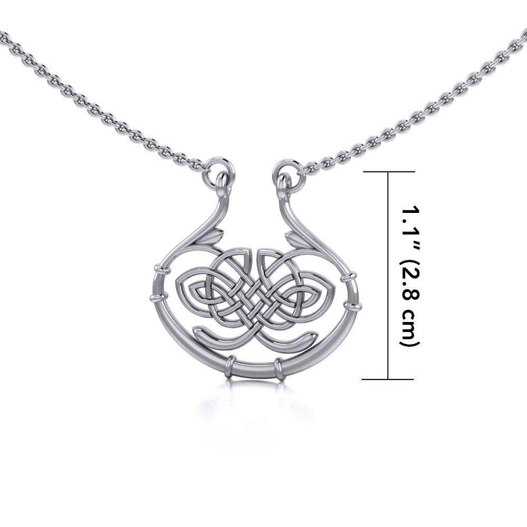 A standout of the Celtic pride ~ Celtic Knotwork Sterling Silver Necklace Jewelry TN005 Necklace
