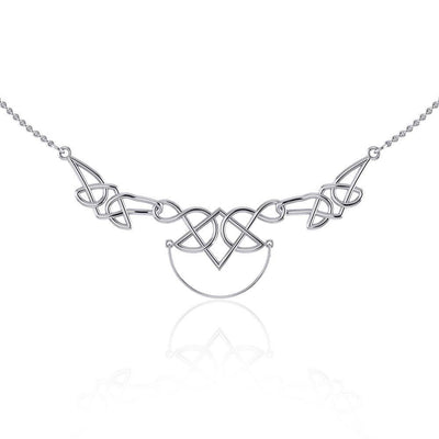A powerful reminder of the fullness of the eternal ~ Celtic Knotwork Sterling Silver Necklace Jewelry with Charm Holder TN121 Necklace