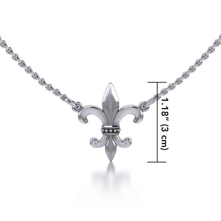 Fleur-de-Lis regal and historical touch ~ Sterling Silver Jewelry Necklace TNC054 Necklace