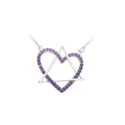 Geometric Style Necklace with Gem TNC312 Amethyst
