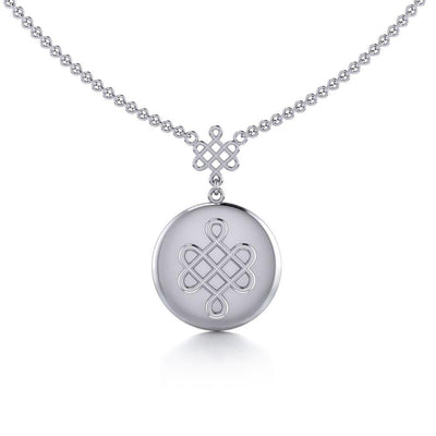 Chinese Mystic Knot Silver Necklace TNC360